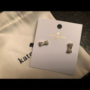 NWT - Kate Spade gold bow earrings